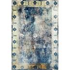 Vintage Dotty Blue 8 ft. x 10 ft. Area Rug