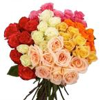 Assorted Roses for Mother's Day - 4 Colors (100 Stems)