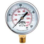 PEM-LF Series 4 in. Lead-Free Brass Pressure Gauge with 1/4 in. NPT LM and 0-200 psi/kPa