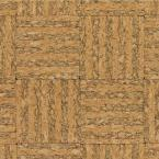 Natural Basket Weave Cork Flooring - 5 in. x 7 in. Take Home Sample