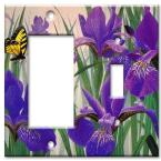 Butterfly in Irises - Rocker / Switch Combo Wall Plate