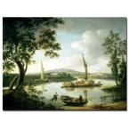 24 in. x 32 in. View of the Thames from Shillingford Canvas Art