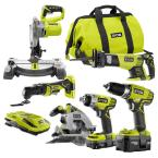 ONE+ 18-Volt Lithium-Ion Cordless Combo Kit (6-Tool)