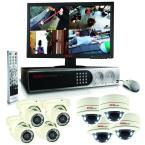 Elite 16 CH 2TB Hard Drive Surveillance System with (8) 600TVL Cameras and 22 in. LED Monitor
