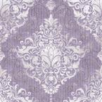 56 sq. ft. Chandeliere Damask Red Wallpaper
