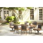 Miramar II 7-Piece Patio Dining Set with Tan Cushions