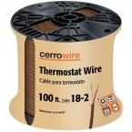 100 ft. 18/2 Brown Solid Thermostat Wire