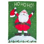 40 in. Ho Ho Ho Santa Claus Polyester Flag (2-Set)