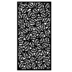 0.6 in. x 95.6 in. x 3.95 ft. Tropical Recycled Plastic Charcoal Decorative Screen (5-Piece per Bundle)