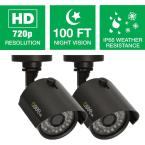Wired 720p Indoor/Outdoor HD Bullet Camera with 100 ft. Night Vision (2-Pack)