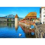 144 in. W x 100 in. H Lucerne Switzerland Wall Mural
