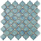 Tangier Marine 13 in. x 13-3/8 in. x 5 mm Porcelain Mosaic Floor and Wall Tile