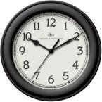 8.5 in. Black Round Essential Wall Clock