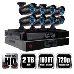 8-Channel Smart HD Video System with Uninterruptable Power Supply Battery Backup System, 2 TB HDD, (8) 720p Cameras