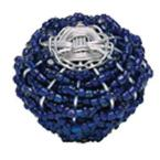 Bollywood 2 in. Blue And Silver Cabinet Knob