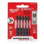 Milwaukee #2 Philips Shockwave 2 in. Impact Duty Steel Power Bits (5-Pack)