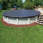 8-Year 18 ft. Round Black Economy Above Ground Winter Pool Cover
