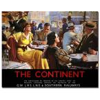 24 in. x 32 in. The Continent Canvas Art