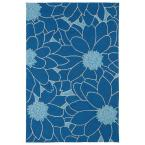 Home and Porch Blue 7 ft. 6 in. x 9 ft. Area Rug
