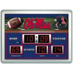 University of Mississippi 14 in. x 19 in. Scoreboard Clock with Temperature