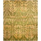 Bohemian Green/Gold 4 ft. x 6 ft. Area Rug