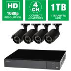 Q-See 4-Ch. 1080p 1TB Surveillance System and 4 HD Cameras