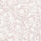 56 sq. ft. Calista Taupe Modern Rose Wallpaper