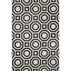 Weston Lifestyle Collection Ivory/Black 5 ft. x 7 ft. 6 in. Area Rug