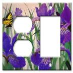 Butterfly in Irises - Outlet / Rocker Combo Wall Plate