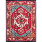 Monaco Red/Turquoise 10 ft. x 14 ft. Area Rug