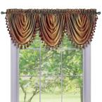 Ombre Waterfall 42 in. L Polyester Valance in Autumn