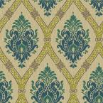56 sq. ft. Global Chic Dressed Up Damask Wallpaper