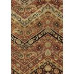 Chevron Paisley Multi 5 ft. 3 in. x 7 ft. 6 in. Plush Pile Indoor Area Rug