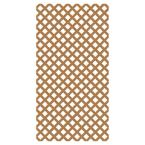 0.165 in. x 48 in. x 8 ft. Sierra Cedar Vinyl Classic Diamond Lattice