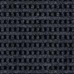 First Impressions Tattersall Denim with Black Texture 24 in. x 24 in. Carpet Tile (15 Tiles/Case)