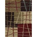 Casual Shag Multi 7 ft. 10 in. x 9 ft. 10 in. Transitional Area Rug