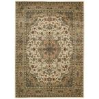 Persian Arts Ivory/Gold 5 ft. 3 in. x 7 ft. 5 in. Area Rug