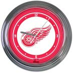 14 in. Detroit Red Wings NHL Neon Wall Clock
