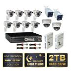 Premium Series 16 Ch. D1 2 TB Surveillance System with 12 650 TVL Cameras; Microphones and Power Panels