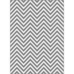 Metro Gray 7 ft. 10 in. x 10 ft. 3 in. Contemporary Area Rug