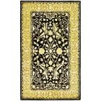 Silk Road Black and Ivory 4 ft. x 6 ft. Area Rug