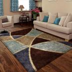 Divulge Chocolate 5 ft. 3 in. x 7 ft. 6 in. Indoor Area Rug