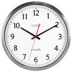 UltrAtomic 14 in. Round Atomic Analog Wall Clock in Silver