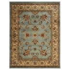 Traditional Oriental Light Blue 7 ft. 10 in. x 9 ft. 10 in. Area Rug