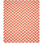 Dhurries Red/Ivory 8 ft. x 10 ft. Area Rug