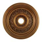 English Study 24 in. Antique Bronze Ceiling Medallion