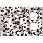 Soccer Balls - Double Switch/Outlet Combo Wall Plate