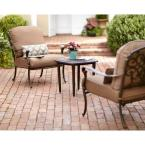 Edington 3-Piece Patio Chat Set with Textured Umber Cushions
