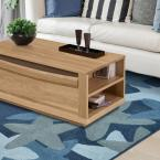 Seaside Lagoon Polyester 8 ft. x 10 ft. Area Rug