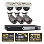 Platinum Series 8-Channel SDI 2TB Video Surveillance System with 3 Bullet and 3 Dome 1080p Cameras